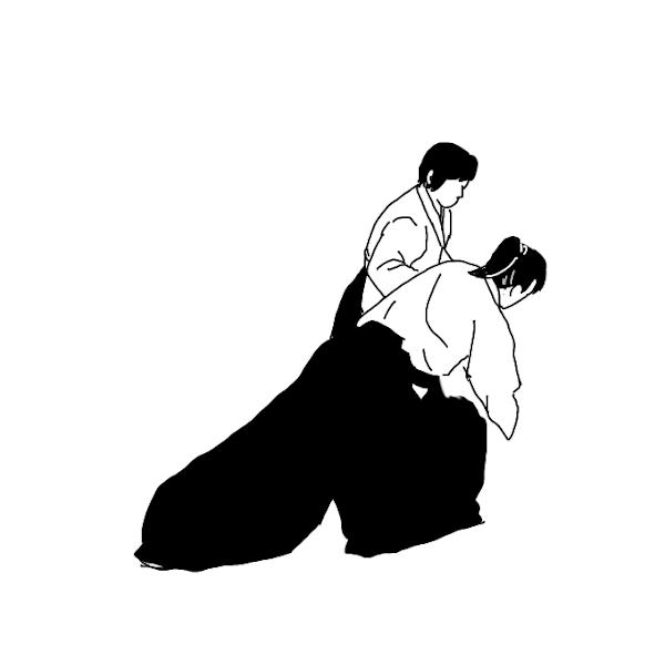 合気道 イラスト素材 女性の稽古